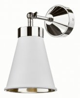 David Hunt Hyde Wall Light Chrome with Arctic White Metal Shade