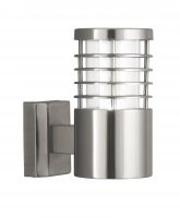Searchlight 1 Light Satin Silver Outdoor Wall Bracket