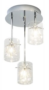 Dar Somerset 3 Light Semi Flush