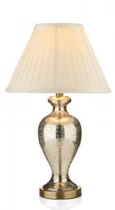 Dar Elizabeth Table Lamp Antique Silver Glass Complete with Shade