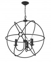 David Hunt Orb 3 Light Black Handcrafted Pendant