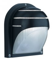 Searchlight Black Aluminium Half Moon