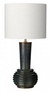 David Hunt Liquid Table Lamp Ribbed Black/Oil Finish Small Base Only