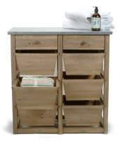 Garden Trading Aldsworth 8 Drawer Storage Unit - Spruce