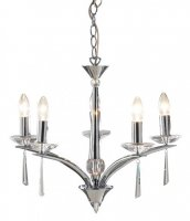Dar Hyperion 5 Light Dual Mount Pendant Polished Chrome