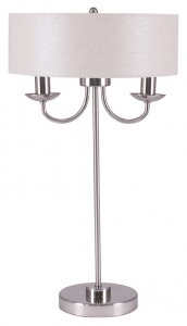 Pacific Lifestyle Madeleine Silver Metal Candelabra Table Lamp