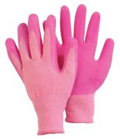 Briers Comfi Pink Medium Coated Pink Garden Gloves
