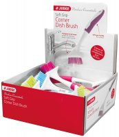 Judge Kitchen Coloured Corner Dish Brush - Assorted
