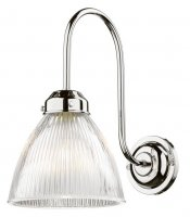 David Hunt Cambridge Wall Light Chrome with Glass