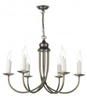 David Hunt Bermuda 6 Light Aged Brass Pendant
