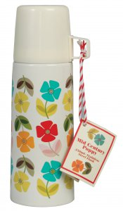 Rex Mid Century Poppy Flask 350ml