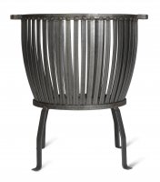 Garden Trading Barrington Fire Pit, Large - Raw Metal