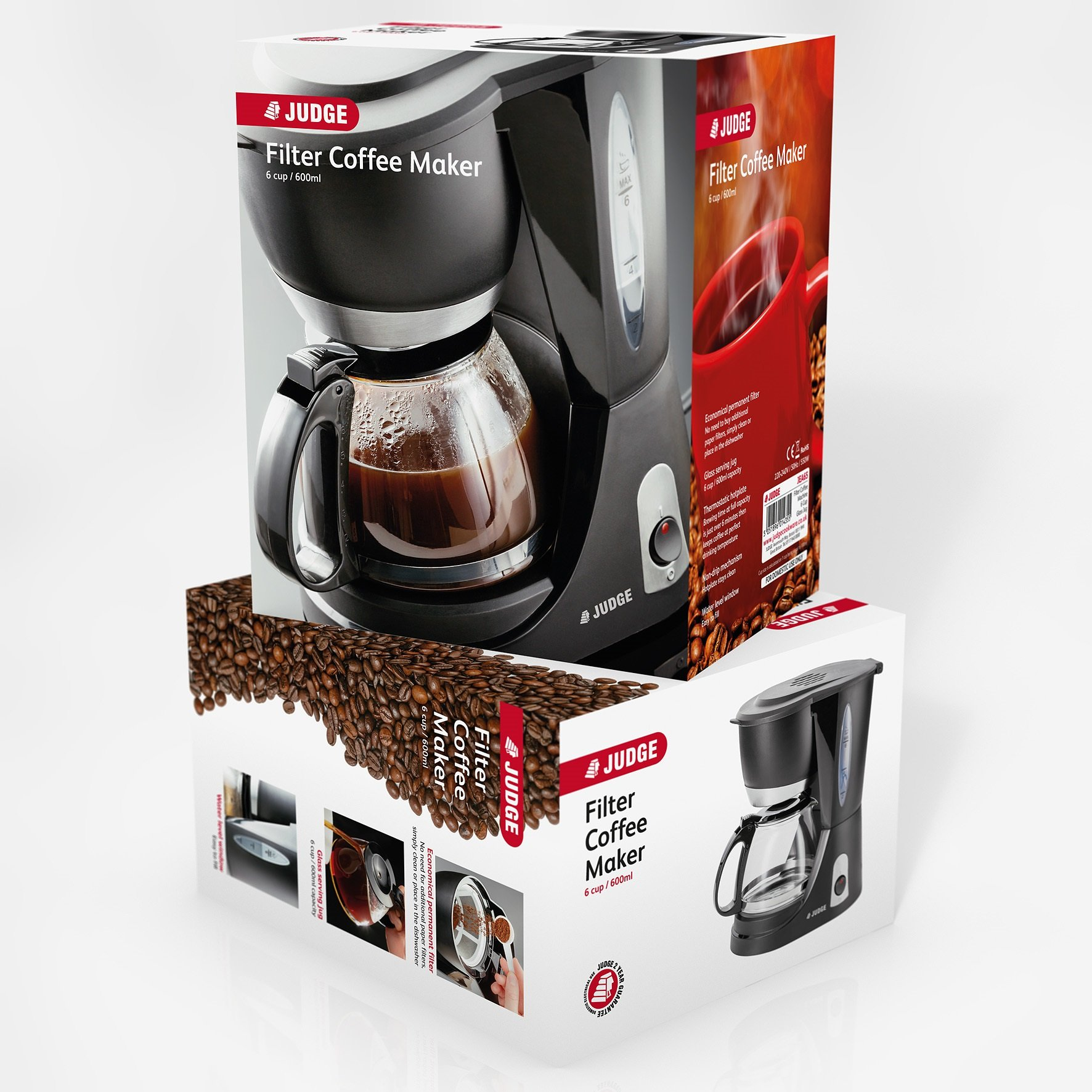 Judge Electricals Filter Coffee Maker 6 Cup 600ml At