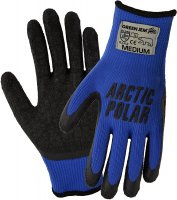Green Jem Arctic Polar Extra Grip Work Gloves - Medium