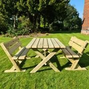 Churnet Valley Ashcome Table Set Sits 4