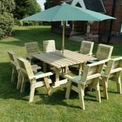 Churnet Valley Ergo 8 Seater Square Table
