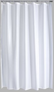 Aqualona Polyester Shower Curtain 180x180cm Solitaire White