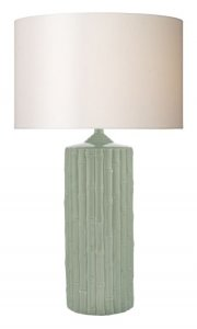 Dar Rattan Table Lamp Mint Green Ceramic Base Only