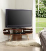 "Jual Havana Corner TV Unit for Upto 50"" Screens in Walnut with Ash Spindle Legs"