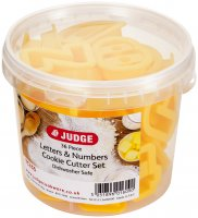 Judge Coloured Cookie Cutters - Letters & Numbers (Set of 36)