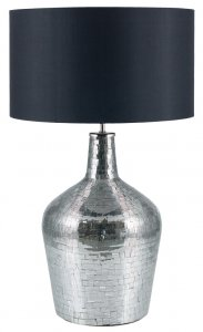 Pacific Lifestyle Anita Silver Glass Mosaic Table Lamp