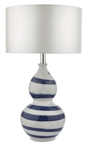 Dar Loen Table Lamp White & Blue Base Only