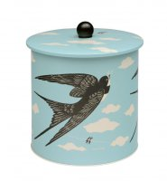 Hanna Country Fair Biscuit Barrel - Birds