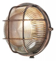 David Hunt Admiral Round Wall Light Antique Copper IP64