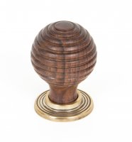 Rosewood and AB Beehive Cabinet Knob 35mm