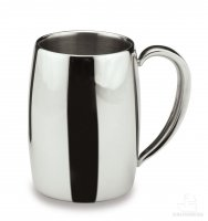 Café Stål Bellux Double Wall Satin Finish Stainless Steel Coffee Mug