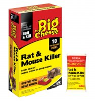 The Big Cheese Rat & Mouse Killer - Bait Packs 400g (10 x 40g)