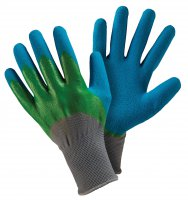 Briers Double Dip Gardening Gloves Medium Blue/Green