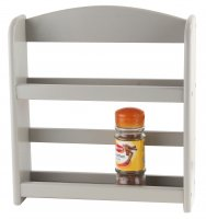 Apollo Housewares Spice Rack 2 Tier Grey