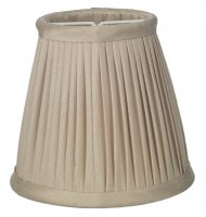 David Hunt Trinity Pleated Silk Candle Clip Shade Taupe