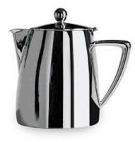 Café Stål Art Deco 35oz Thermal Wall Stainless Steel Teapot