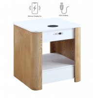 Jual San Francisco Smart Bedside/Lamp Table with USB & Wireless Charging