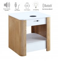 Jual San Francisco Smart Bedside/Lamp Table with USB, Bluetooth, Wireless Charging & Light