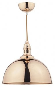 Dar Yoko 1 Light Pendant Copper