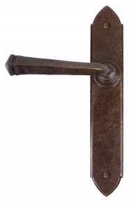 Bronze Gothic Lever Latch Set