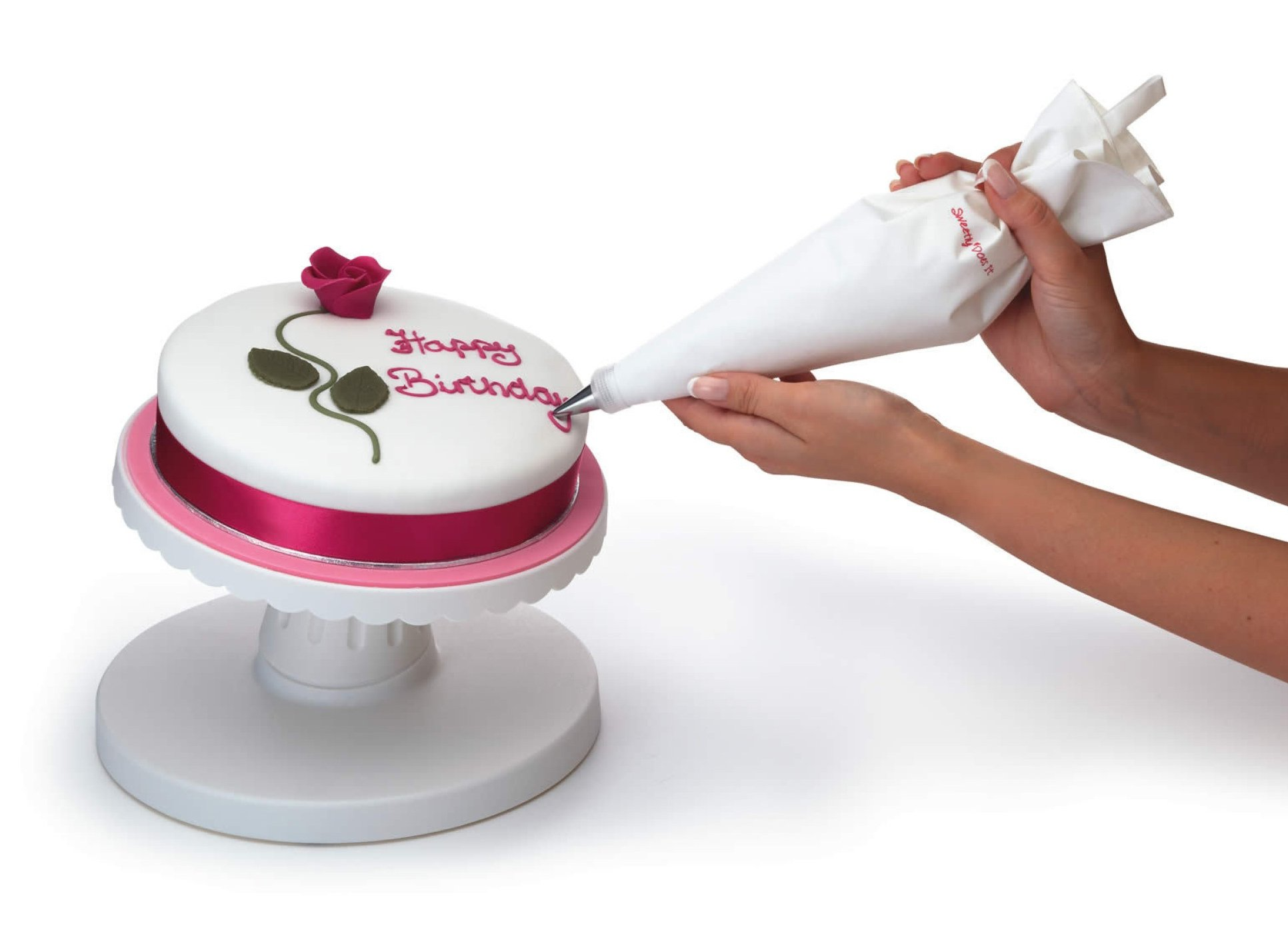 Sweetly Does It Tilting Cake Decorating Turntable, 24cm at ...