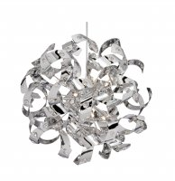 Searchlight Curl 12 Light Chrome Pendant with Glass Beads
