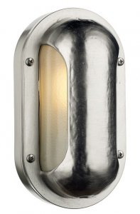 David Hunt Naval Oval Wall Light Nickel