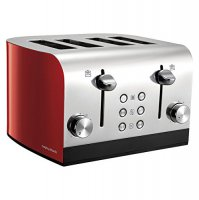 Morphy Richards Equip 4 Slice Toaster Red