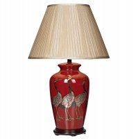 Dar Bertha Bird Table Lamp Red - Base Only