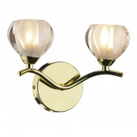 Dar Cynthia Double Wall Bracket Polished Brass