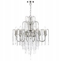 Dar Daniella 6 Light Pendant Dual Mount Polished Nickel