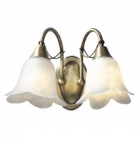 Dar Doublet Dwb Antique Brass with Alabaster Glass