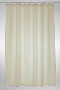 plain polyester shower curtain 180x200cm - cream