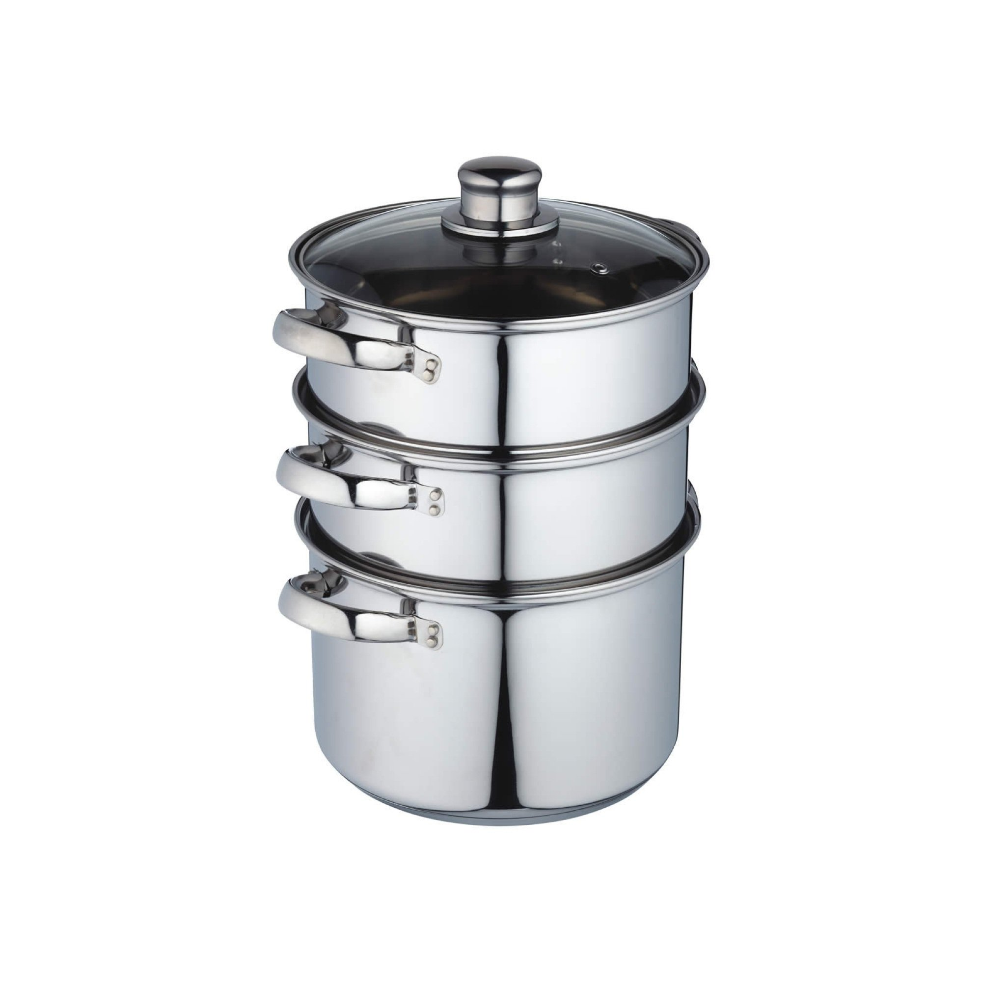Kitchencraft Stainless Steel Three Tier 20cm Steamer At