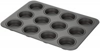 Stellar Hard Anodised 12 Cup Cupcake/Muffin Tin